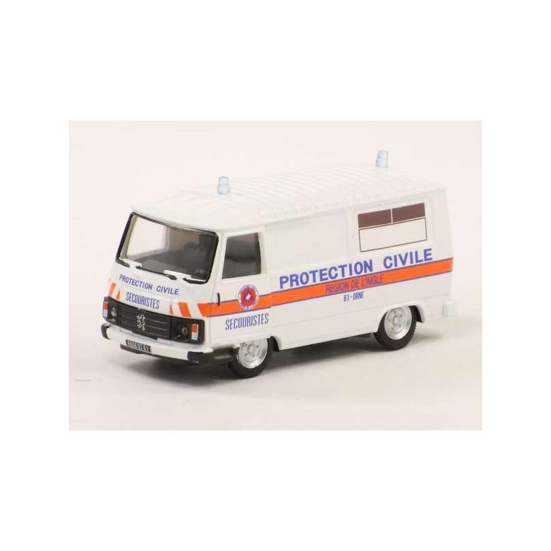"""Peugeot J9 1982 """"protection civile"""" - H0"""