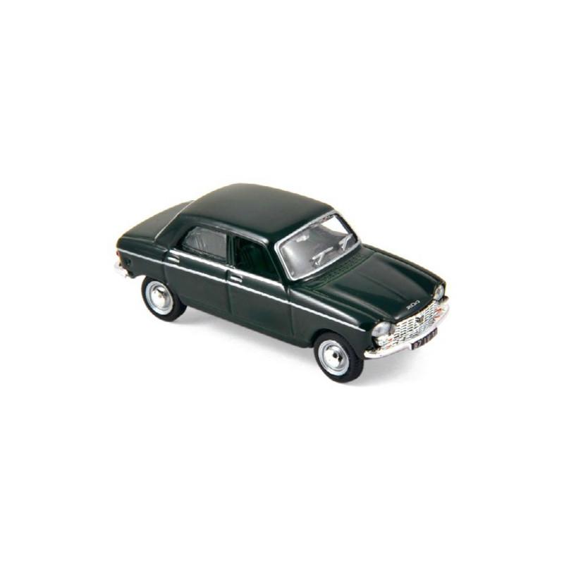 Peugeot 204 - vert antique - 1966 - H0