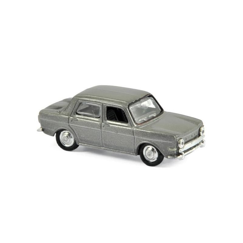Simca 1000 GLS 1968 - gris métallisé - H0