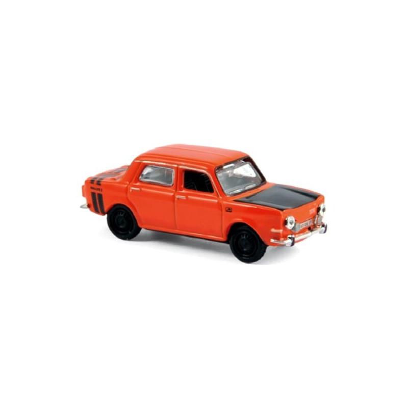 Simca 1000 Rallye II 1974 - rouge sumatra - H0