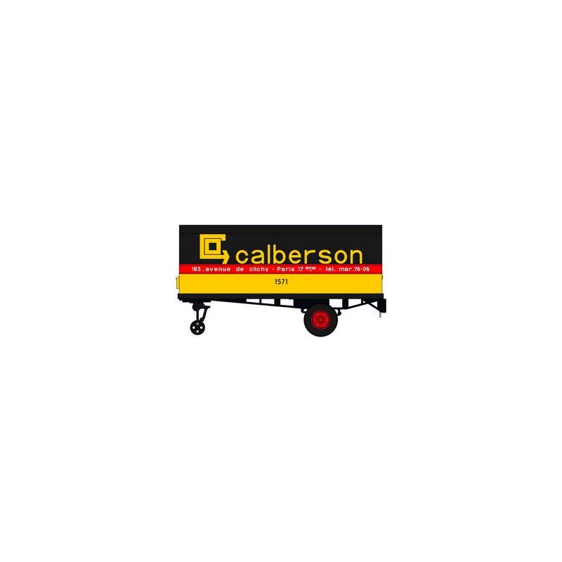 "Panhard Movic calandre moderne + remorque ""CALBERSON"" - H0"