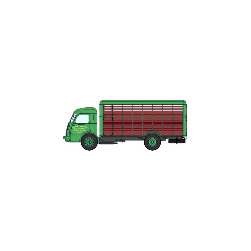 Panhard Movic bétaillère bicolore vert et marron  - H0