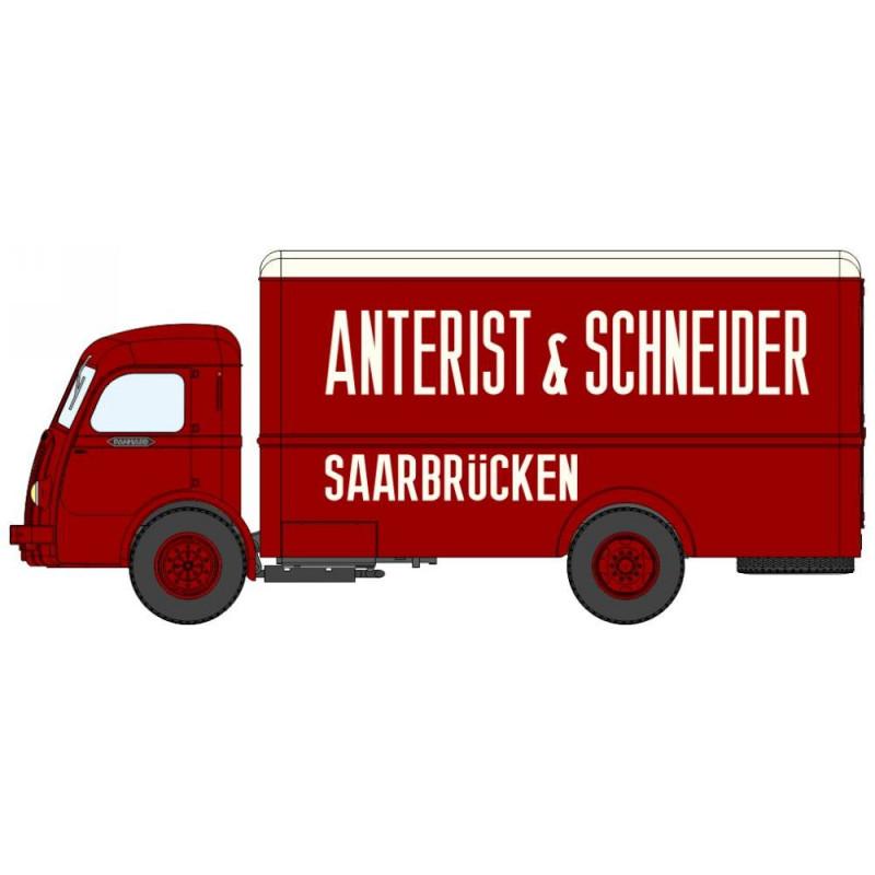 """Panhard Movic fourgon calandre ancienne """"Anterist & Schneider - Saarbrücken"""" - H0"""