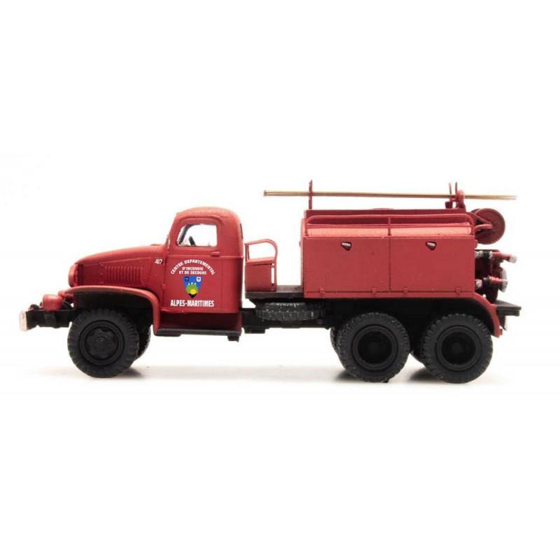 """GMC Pompiers - cabine tôlée """"ALPES-MARITIMES"""" - H0"""