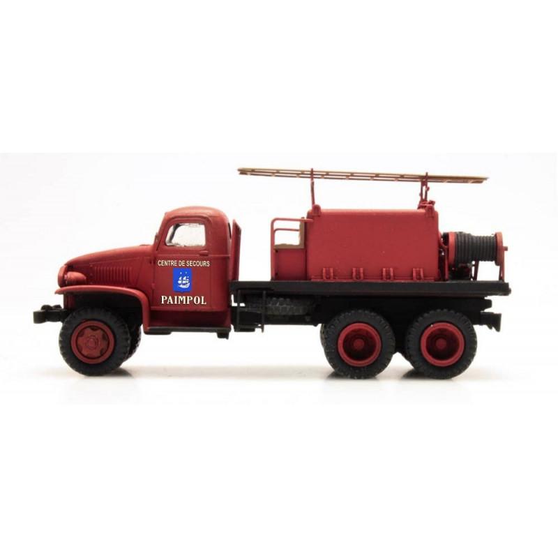 """GMC Pompiers - cabine tôlée """"PAIMPOL"""" - H0"""