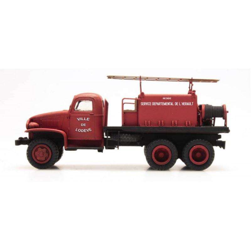 """GMC Pompiers - cabine tôlée """"LODEVE"""" - H0"""