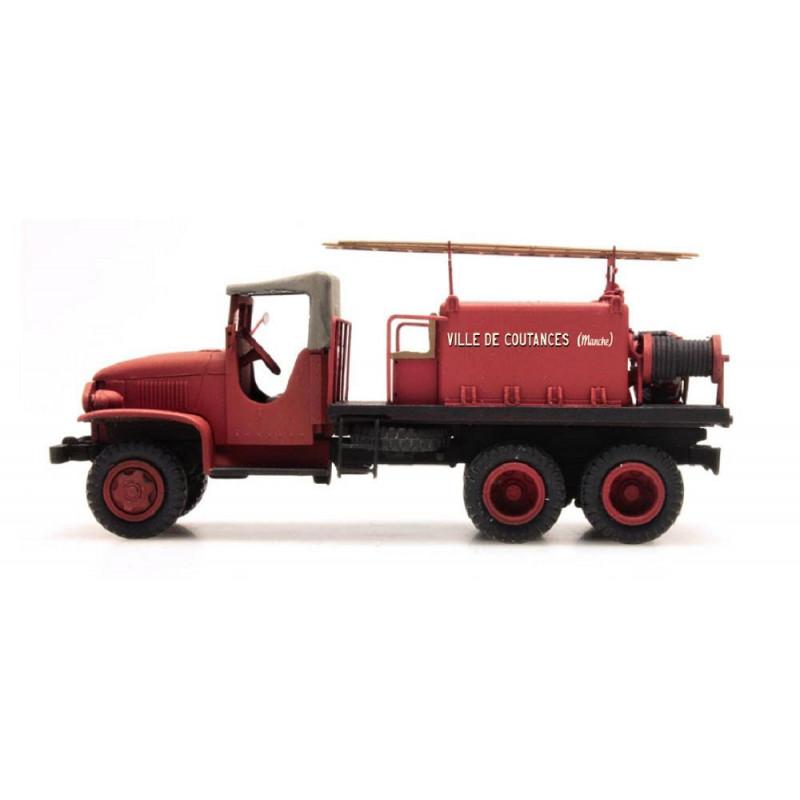 """GMC Pompiers - cabine tôlée """"COUTANCES"""" - H0"""