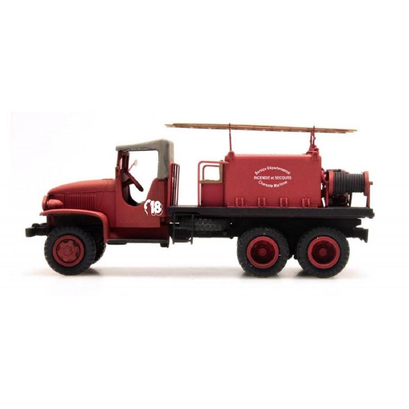 """GMC Pompiers - cabine tôlée """"CHARENTE MARITIME"""" - H0"""