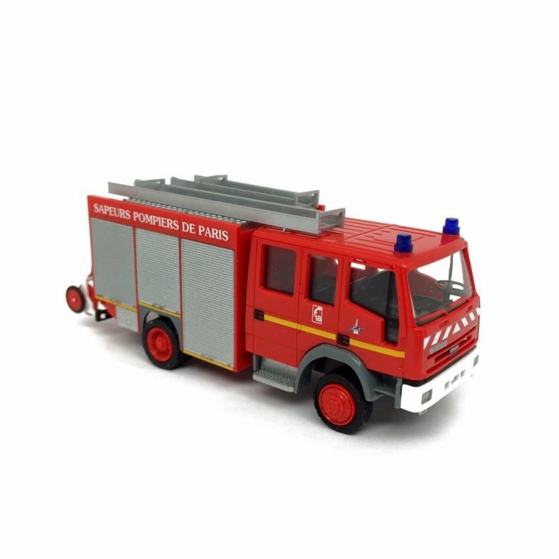 Fourgon d'appui Iveco Eurocargo - sapeurs pompiers de Paris - 3 gyrop0ares fonctionnels - HO