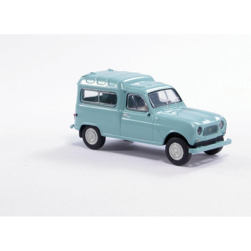 Renault R4 fourgonnette vitrée 1961 - bleu/vert - H0