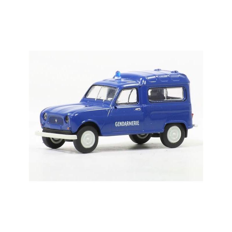 Renault R4 fourgonnette gendarmerie 1961 bleue - H0