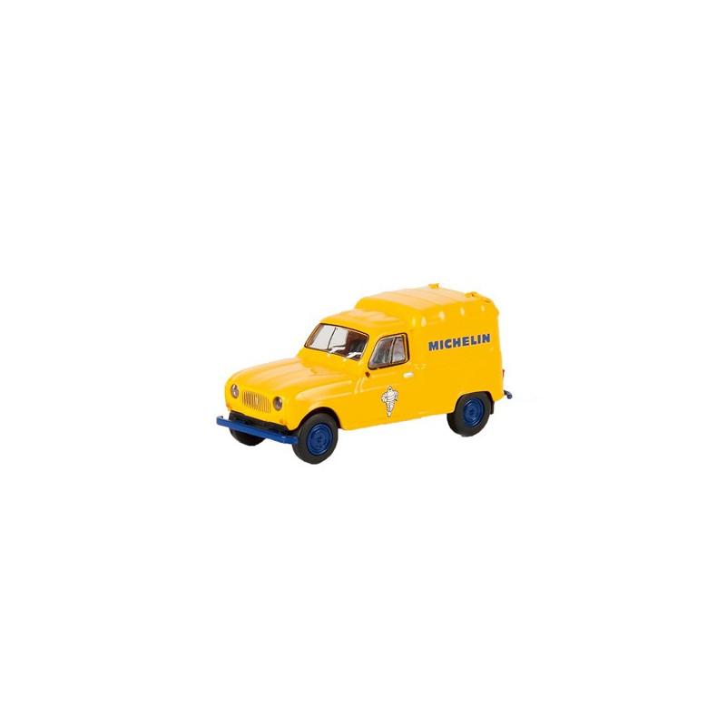 Renault R4 fourgonnette 1961 - enseigne MICHELIN - H0
