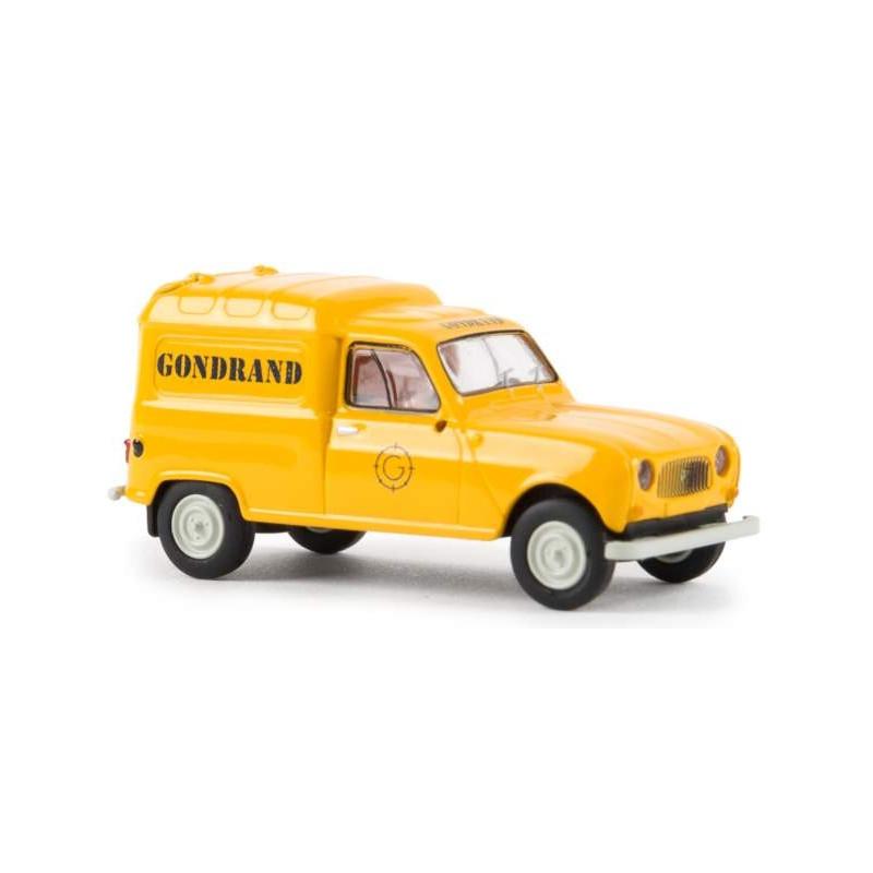 """Renault R4 fourgonnette 1961 - enseigne """"Gondrand"""" - H0"""