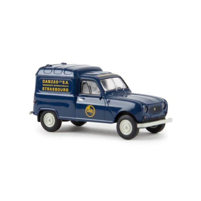 """Renault R4 fourgonnette 1961 - enseigne """"Danzas - Strasbourg"""" - H0"""