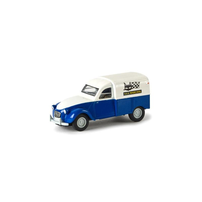 Citroën 2CV fourgonnette AZU 1961 enseigne SEV Marchal - H0