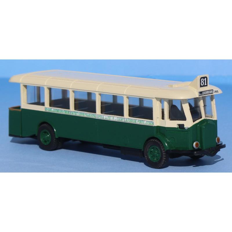 Bus Renault TN4H P à plate-forme ouverte - RATP ligne 81 - H0