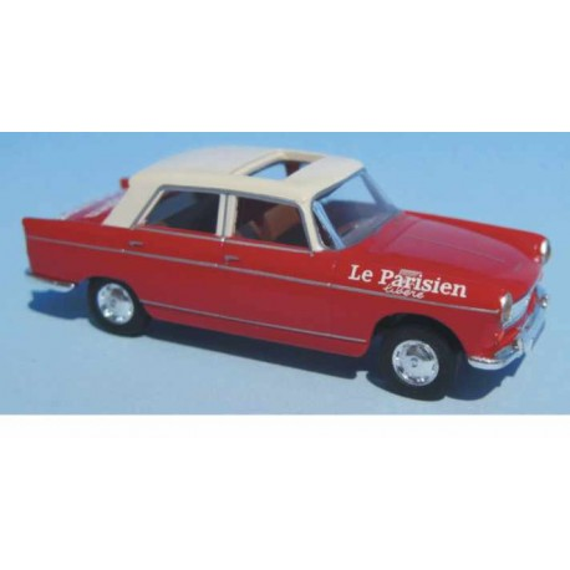 """Peugeot 404 """"Le Parisien"""" Direction de course TDF 1963 à 1968 - H0"""