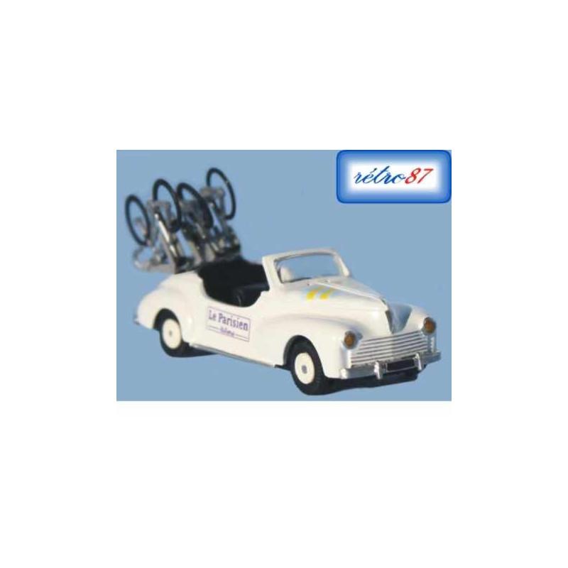 Peugeot 203 cabriolet - véhicule d'assistance - Centre Midi 1956-1961 - H0