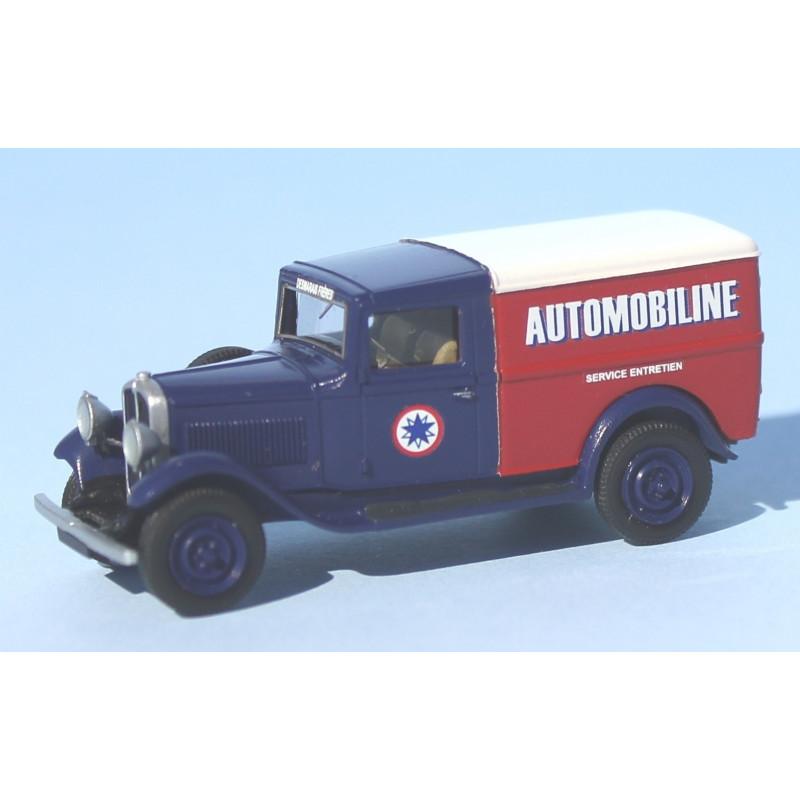 Renault KZB fourgonnette 1932 - Desmarais Frères - service entretien Automobiline - H0