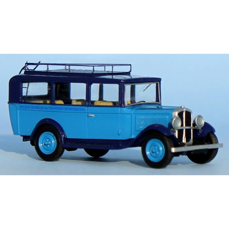 Autocar Renault OS 1930-1935 - Société Générale des Transports Départementaux - H0