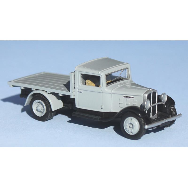 Camion Renault ZJ à plateau - gris clair - H0