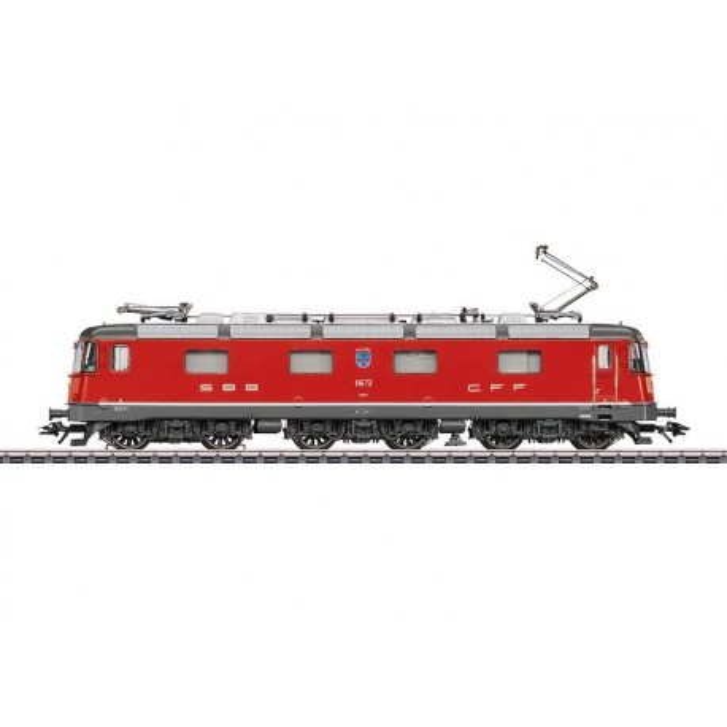 Locomotive électrique Re 6/6 SBB CFF - livrée rouge feu - blason Balerna - H0
