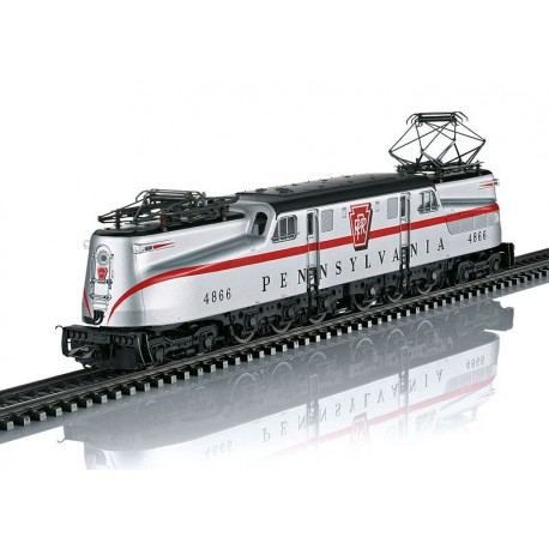 GG-1 de la Pennsylvania Railroad (PRR) - livrée argentée - 1955 - digitale sonore - H0