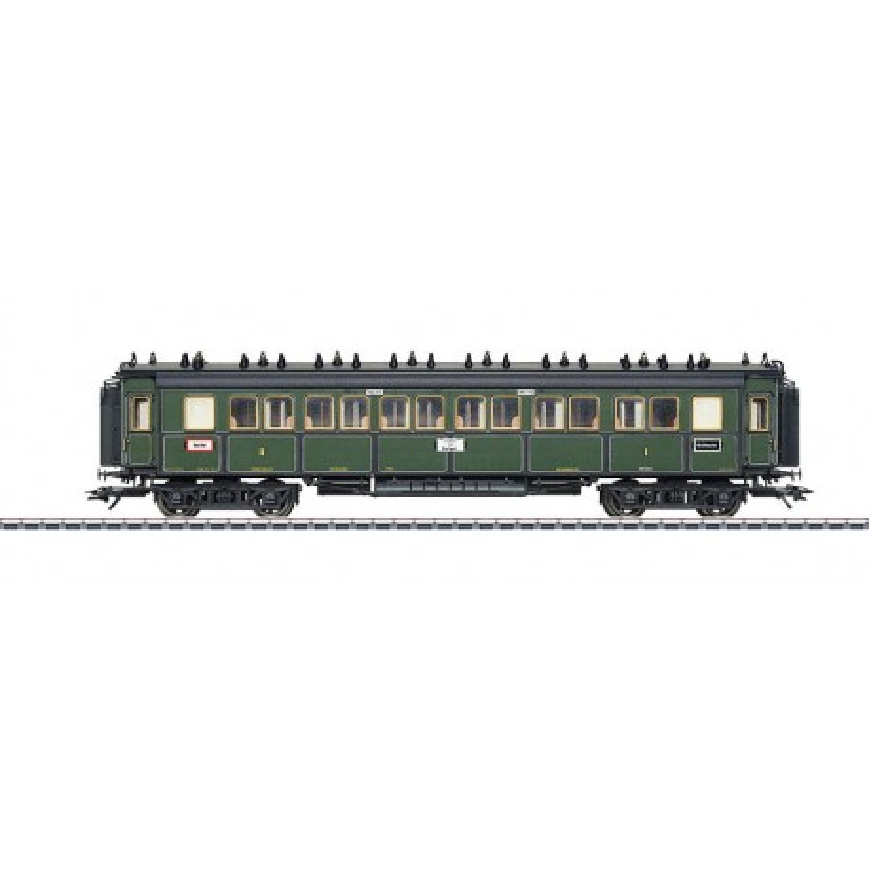 Voiture de grandes lignes type ABBü 1re/2nde cl des chemins de fer royaux bavarois - 1908 - H0