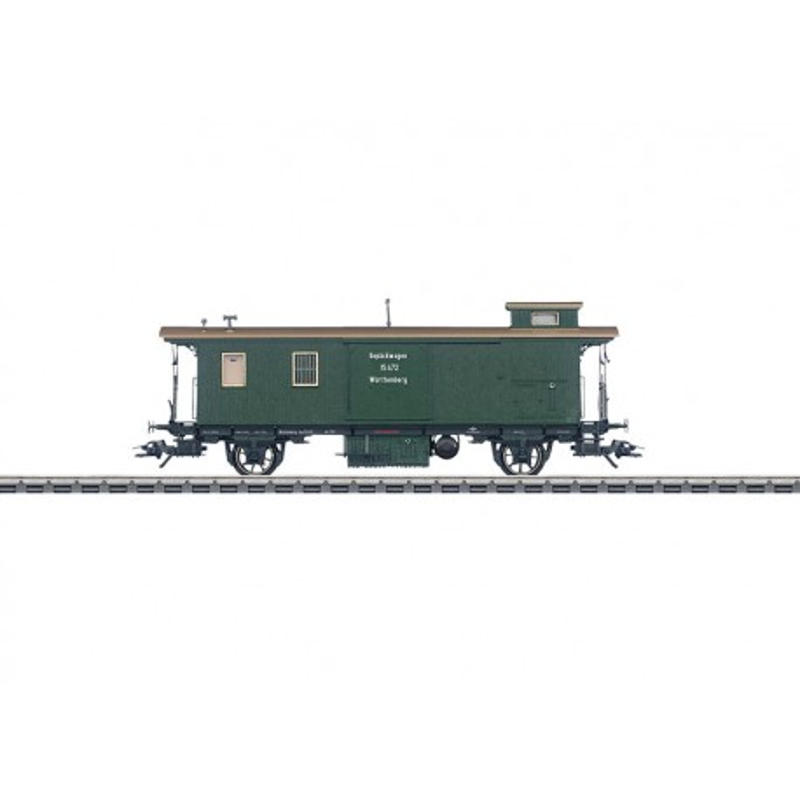 Fourgon à bagages Gep des chemins de fer wurtembergeois - H0