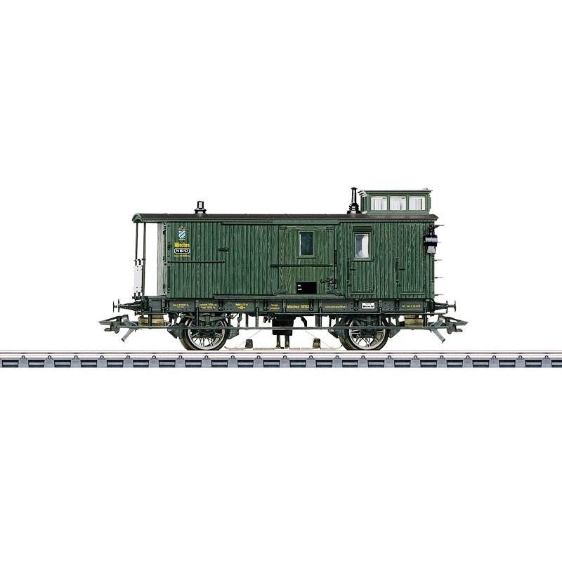 Fourgon à bagages des chemins de fer royaux Bavarois - H0