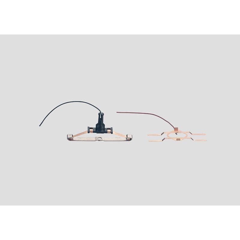 Prises de courant pour alimentation éclairage intérieur 3 rails courant alternatif - H0