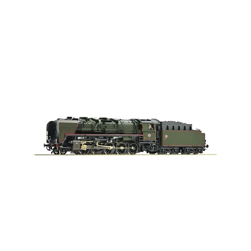 Locomotive à vapeur 150 X 35 SNCF - livrée vert/noir - dépôt de Thionville - époque III - digitale sonore - H0