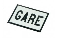 Plaques GARE x2 - N