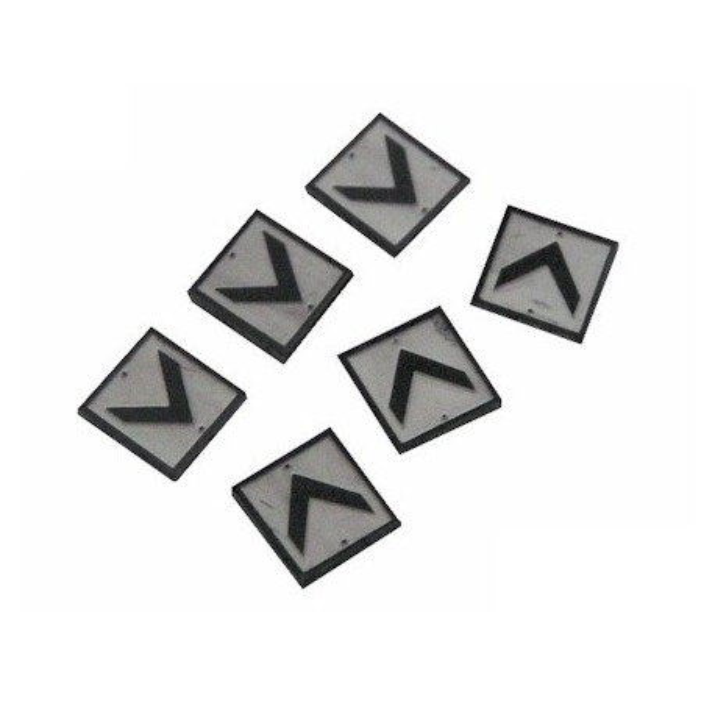 Plaque chevron x6 - N