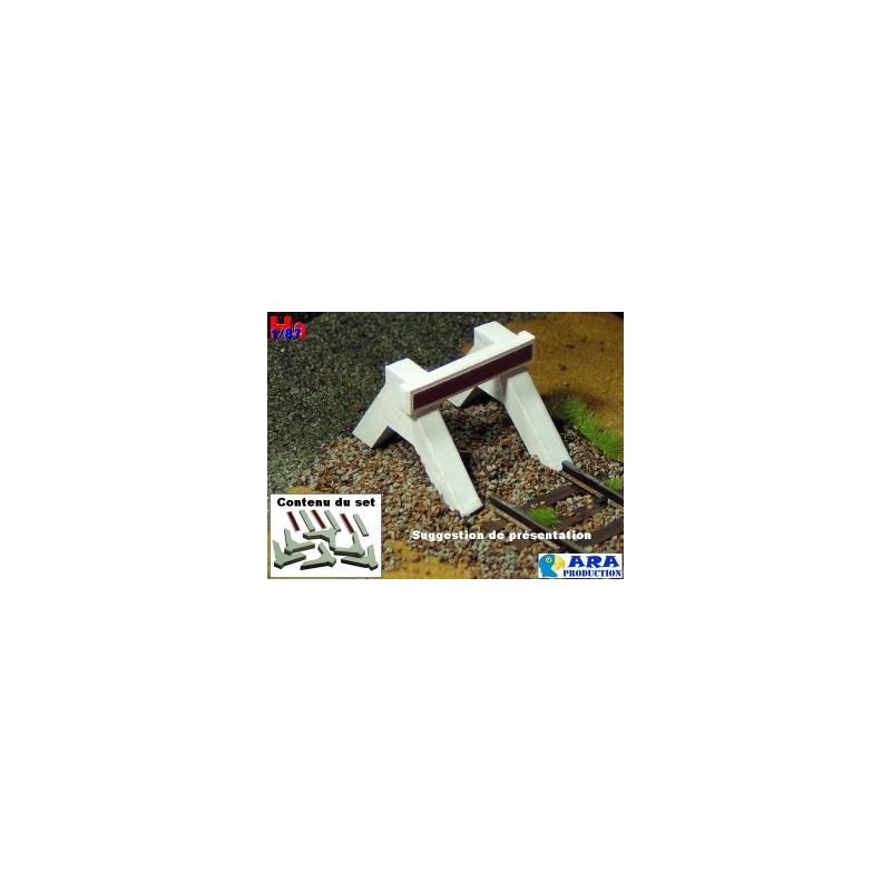 Heurtoir bibloc béton x3 - à monter - H0