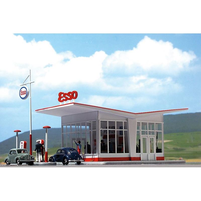 Station service Esso années 50