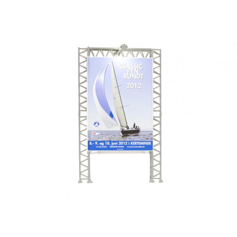 Panneau publicitaire avec 2 projecteurs, LED