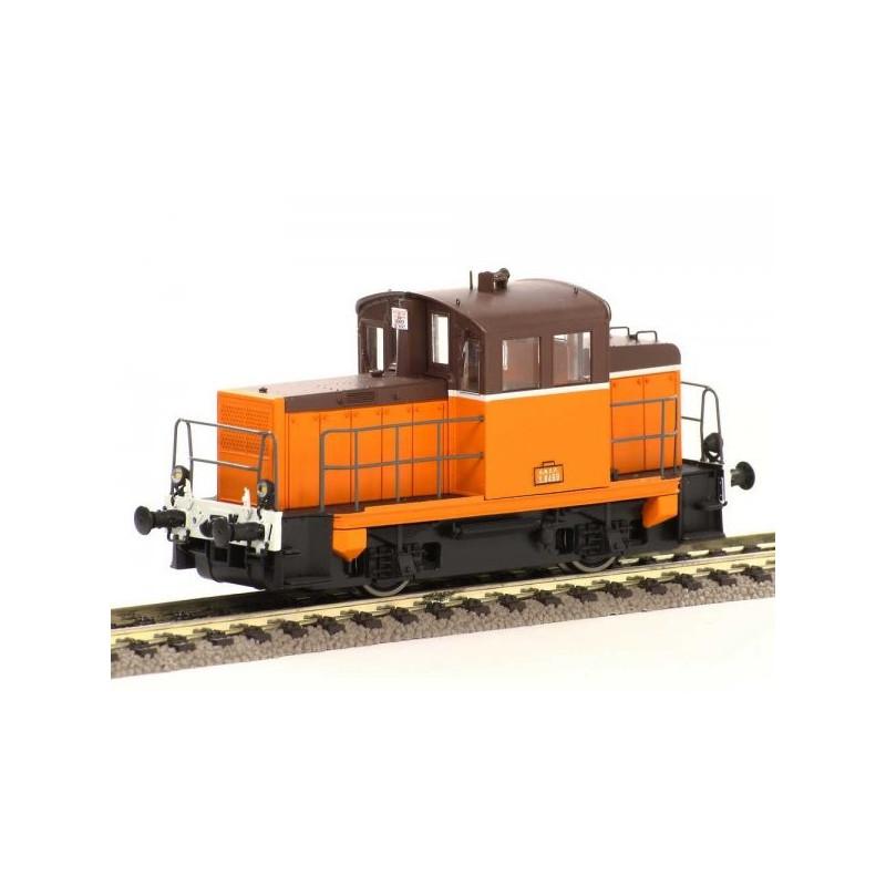 Y 6499 SNCF - livrée ARZENS orange, châssis noir et traverse blanche - H0
