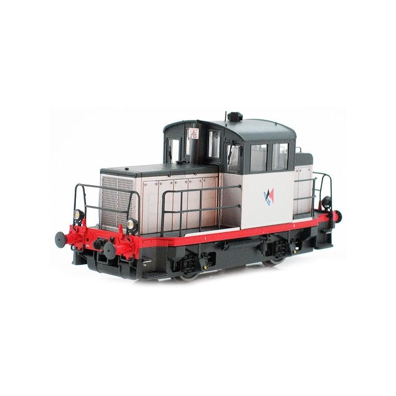 Y 6400 SNCF - livrée LOCMA gris, châssis gris et traverse rouge - H0