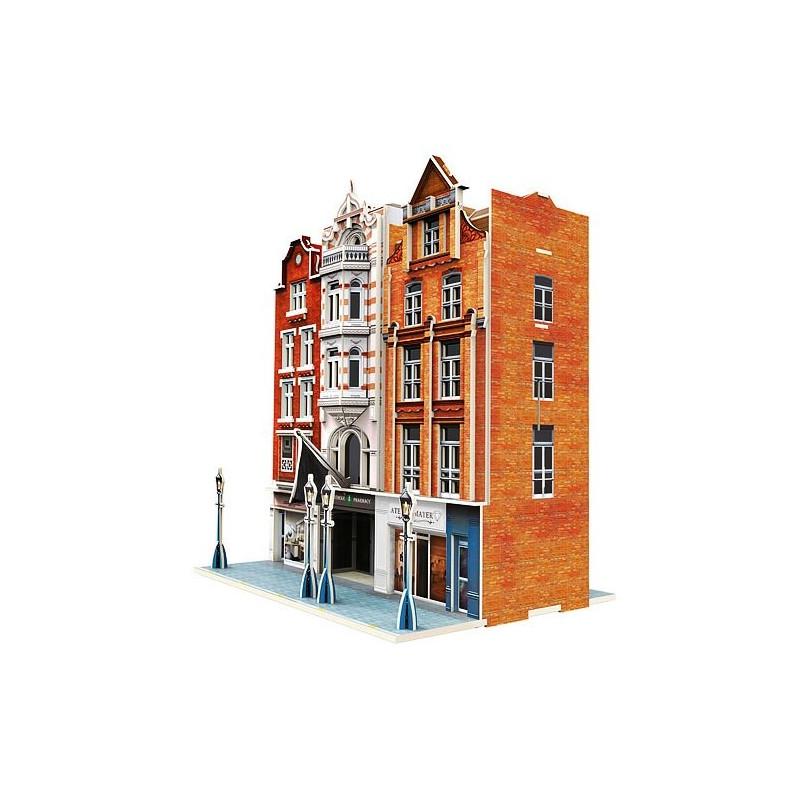 """Puzzle 3D """"Immeuble et magasins"""""""