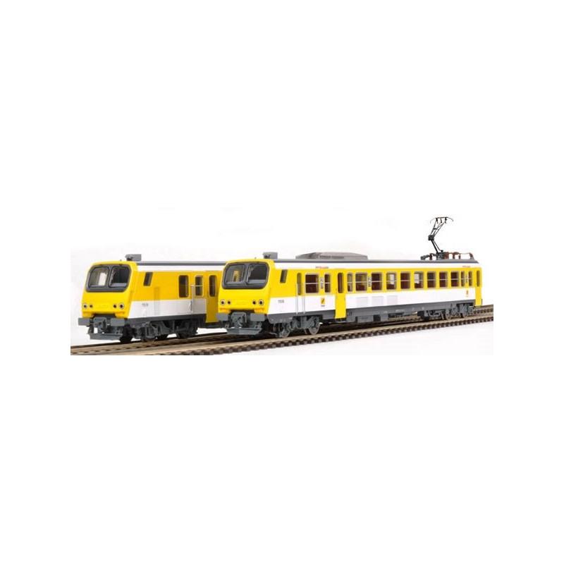 Automotrice Z2  Z11518 SNCF - jaune lithos - région Lorraine - H0