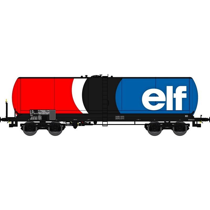 """Citerne longue ANF enseigne """"ELF"""" - boggie Y 25S boîtes SKF - H0"""