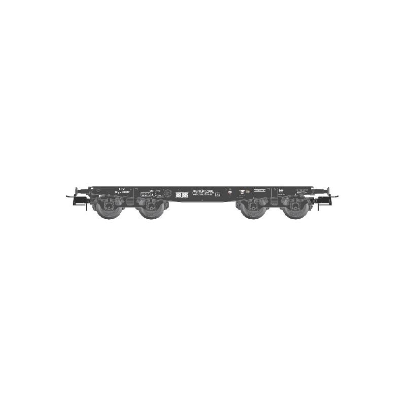 Wagon Porte-char SPyw 98832 SNCF noir - bogie allemand - sans chargement - H0