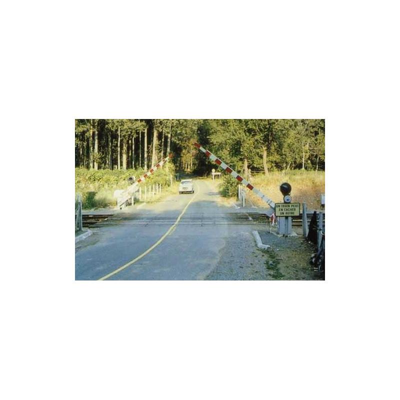 Passage à niveau moderne 1/2 barrières