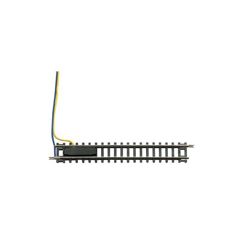 Rail d'alimentation  - N - code 80 - traverses bois - sans ballast