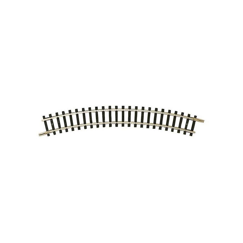Rail courbe  - N - code 80 - traverses bois - sans ballast -  R2 : 228,2 mm  - 12 coupons / cercle