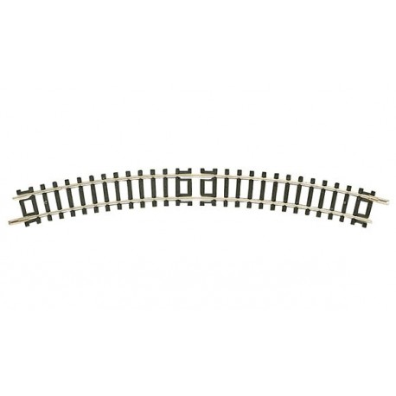 Rail courbe  - N - code 80 - traverses bois - sans ballast -  R3a : 295,4 mm  - 12 coupons/cercle