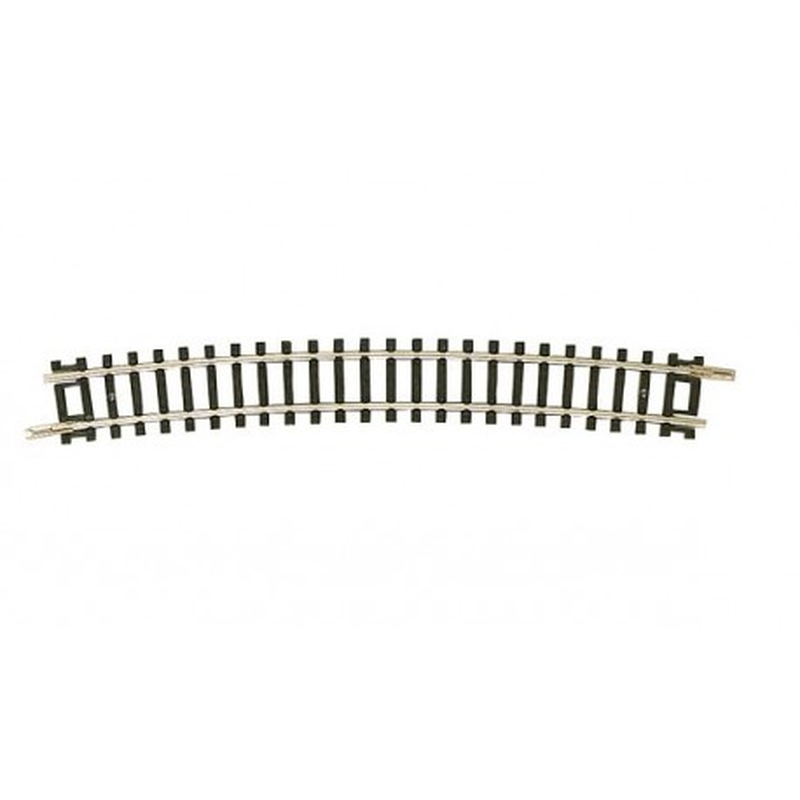 Rail courbe  - N - code 80 - traverses bois - sans ballast -  R6 : 480 mm  - 24 coupons/cercle