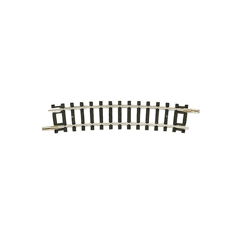 Rail courbe  - N - code 80 - traverses bois - sans ballast -  R3a : 295,4 mm  - 24 coupons/cercle