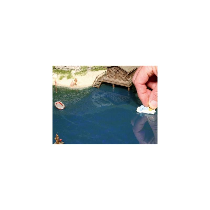 Résine / durcisseur pour réalisation d'eau transparente